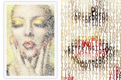Typographic art, portrait of woman, Create Typographic Images with Typo-Painter