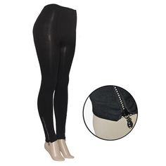 Women's Fashion Leggings with Hemline Detail. At nomorerack.com where shipping is always just 2.00 - Sale Price 9.00 - Regular Price $45.00 - I got the ones with the zippers.  ---   *ALWAYS* search online for *PROMO CODES*