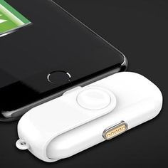 The mini magnetic power bank charges your iPhone and iPad without the need of cables so that you can use your device without the inconvenience that comes with tangled wires. Mini Magnets, Ios Phone, Outlets, Apple Tv, Tangled, Charger, Ipad, Usb, Gadgets