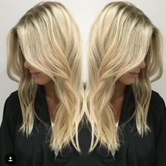 Pretty blonde hair highlights, summer
