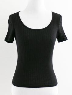 Tautmun - VEITH RIBBED CROP TEE - BLACK, $14.99 (http://www.tautmun.com/veith-ribbed-crop-tee-black/)