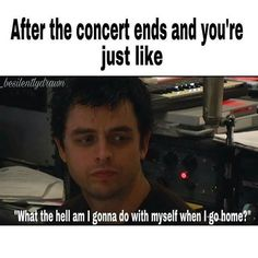 I went to a Green Day show last night and this is literally me right now. Post concert depression is real!