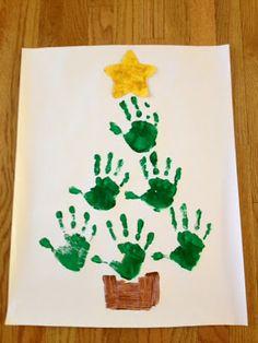 worthyoftheprize.com: {Hope for the Home}: A Charlie Brown Christmas and Hand Print Christmas Trees