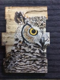 Owl. Acrylic painting on wood. by Happy nature craft see more of her works  https://instagram.com/happy_nature_craft/ ://www.etsy.com/shop/Happynaturecraft?ref=hdr_shop_menu.
