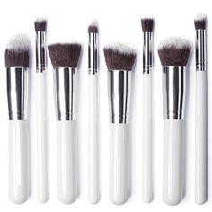 LuxeBell® Kit de Pinceau maquillage Professionnel 8PCS Ombre à Paupière blanc Blush Fondation Pinceau Poudre Fond de teint Anti-cerne   Your #1 Source for Beauty Products