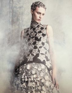 Julia Nobis in Alexander McQueen Fall 2014 for Vogue Japan September 2014 by Luigi+Iango