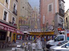 Mis fotos de Madrid: Trampantojo en la calle de la Cruz