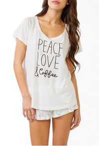 Peace, Love & Coffee Pj's I must have!!!