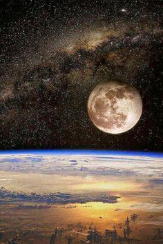 Lune et notre planète terre <3 ***
