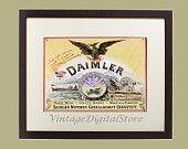 Vintage Collage Illustration_ Download for transfer on pillow, bag, canvas, paper