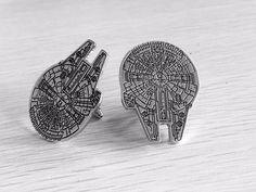 Millennium Falcon Star Wars cufflinks by cuffedandcollared on Etsy