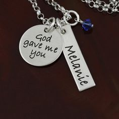 For the special mom/grandma...     ★ sterling silver   ★ 1 name bar will be personalized with a name of up to 9 characters   ★ your choice of