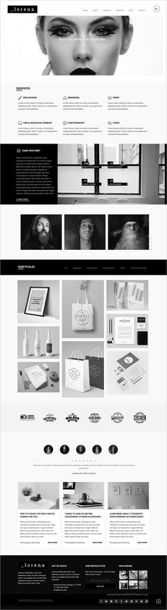 Lorena is a black and white modern responsive #HTML #template, with clean and elegant design for #agencies website download now➩ https://themeforest.net/item/lorena-creative-black-white-html-template/18193458?ref=Datasata