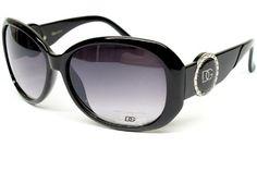 ($9.95) Dg Eyewear Vintage Retro Fashion Sunglasses Womens Black D840 From DG Eyewear