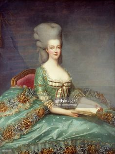 Portrait of Marie Antoinette (1755-1793), Queen of France. This portrait was given by the Queen's confessor in 1781. Painting by Francois Hubert Drouais (1727-1775), 18th century. Private collection