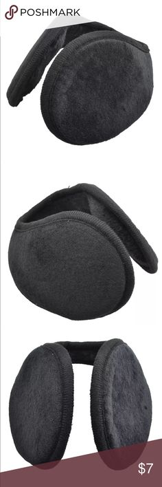 Plush earmuffs unisex Great pair of warm wrap around earmuffs for the winter. Can be used on men or women. Please check out my other accessories as well for 30% off two or more items. Thanks for looking! Accessories Hats