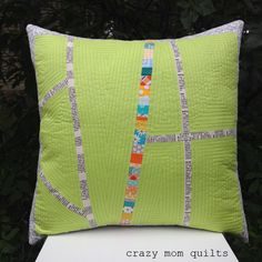 crazy mom quilts: A plus pillow 106