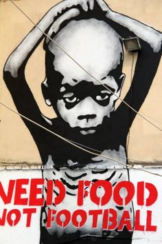 GOIN - Need Food Not Football Mural @ Athens, Greece
