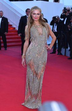 Paris Hilton  The Best Red Carpet Looks from the Cannes Film Festival  - ELLE.com
