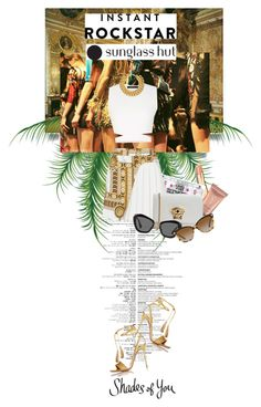 """Shades of You: Sunglass Hut Contest Entry"" by gizaboudib ❤ liked on Polyvore featuring Rockstar Sushi, Urban Decay, Versace, BCBGMAXAZRIA, Aquazzura, A.V. Max, Miu Miu and shadesofyou"