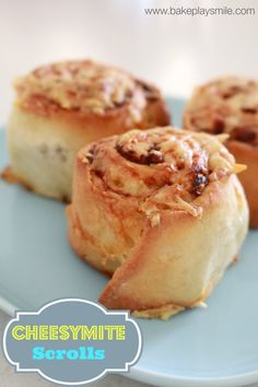 Cheesymite Scrolls (the BEST Cheese & Vegemite Scrolls) - Bake Play Smile Healthy School Snacks, School Lunches, School Treats, Best Cheese, Best Oatmeal, Savory Snacks, Base Foods, Kids Meals, Gourmet