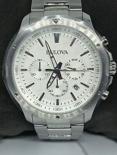 Bulova, Chronograph, Off White, Watches For Men, Accessories, Men's Watches, Jewelry Accessories