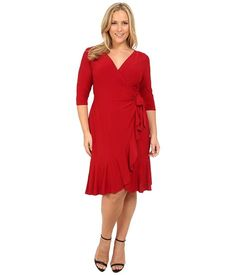 74e7abfae7671 Kiyonna whimsy wrap dress red y for love