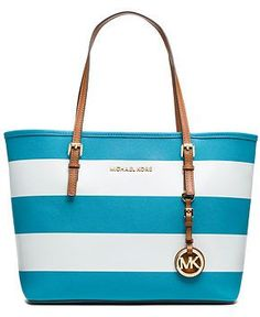 MICHAEL Michael Kors Jet Set Stripe Small Travel Tote - MICHAEL Michael Kors - Handbags & Accessories - Macy's