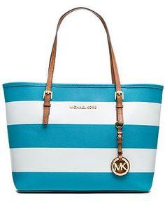 MICHAEL Michael Kors Jet Set Stripe Small Travel Tote - MICHAEL Michael Kors - Handbags & Accessories - Macy's