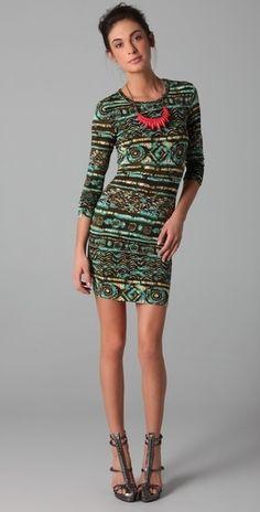 Torn by Ronny Kobo Zoe Simba Long Sleeve Dress - StyleSays