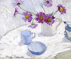 Anne Redpath, (British, 1895-1965) Still life with Michaelmas Daisies
