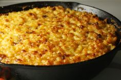 Cast Iron Mac and Cheese, yes please!