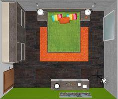 esta es la imagen del dormitorio de matrimonio desde arriba o lo que es lo mismo