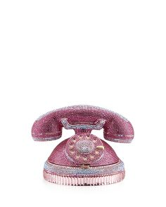 Ringaling Rotary Phone Minaudiere, Pink - Judith Leiber Couture
