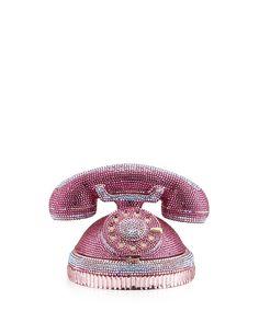 Ringaling Rotary Phone Minaudiere, Pink - Judith Leiber Couture