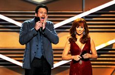 Blake Shelton and Reba McEntire hosting the ACM's