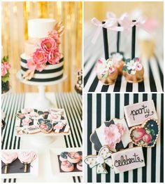 I mean, seriously !!! Modern Glam Kate Spade Birthday Party via Kara's Party Ideas | KarasPartyIdeas.com (5)