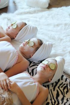 Spa Party Birthday Ideas! OMG so cute for little girls sleepover birthday!