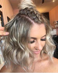 """862 curtidas, 6 comentários - Júlia Munhoz - Penteadosx (@penteadosx) no Instagram: """"Para os curtinhos! Quem aí ama cortar o cabelo?"""""""