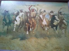 Frederick remington in boatwright's Garage Sale in Tahlequah , OK for $50.00. 22x30 painting. Picture upon request