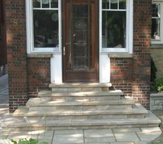 Toronto Landscaping- front entrance using natural stone