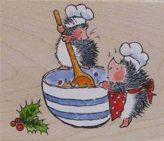 Christmas Mix - Penny Black Inc Hedgehog Art, Cute Hedgehog, Whimsy Stamps, Digi Stamps, Cute Animal Drawings, Cute Drawings, Hedgehog Illustration, Christmas Mix, Black Christmas