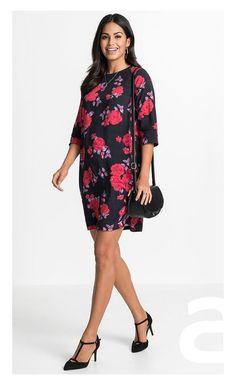 stylizacja elegancka, ciekawa stylizacja, moda damska, sukienka w kwiaty Cold Shoulder Dress, Dresses, Fashion, Vestidos, Moda, Fashion Styles, Dress, Fashion Illustrations, Gown