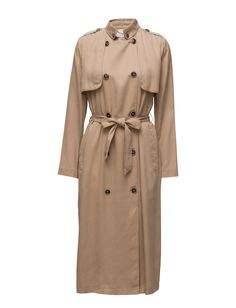DAY - Day Kapi Storm flap Double breasted button placket Self-tie waist Tencel is an environmentally friendly fabric made from wood pulp. Made from luxuriously soft tencel. Elegant and feminine Refined Waffle Day, Double Breasted, Feminine, Tie, Button, Elegant, Coat, Fabric, Jackets