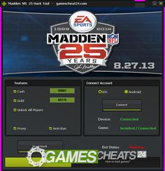 Madden NFL 25 Hack How To Hack Games, Madden Nfl, Gaming Tips, Cheating, Hacks, Tips