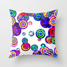 #Targets Throw Pillow by Miss L In Art | Society6