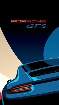 car poster design Porsche GTS Retro looking - posterdesign Porsche 918 Spyder, Porsche Autos, Porsche Panamera, Porsche Cars, Ferdinand Porsche, Auto Poster, Car Posters, Car Iphone Wallpaper, Car Wallpapers