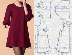 """2,259 Likes, 46 Comments - Dikiş Kalıpları ve Patronları (@dikiskalipvepatronlari) on Instagram: """"Ister #bluz ya da #Tunik isterseniz #elbise Desteklemek için lütfen yorum yapınız & begen butonuna…"""""""