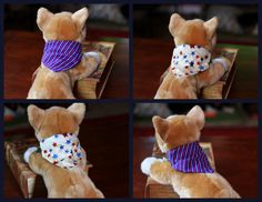 Dog over-the collar style bandana in a by PuppyPawzBoutique