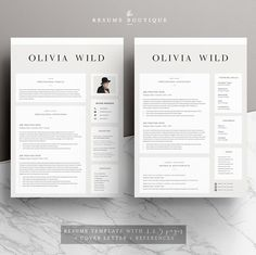 5 page Resume Template | Ultra Chic - Resumes - 2